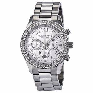 Michael Kors Layton Chronograph Silver Watch